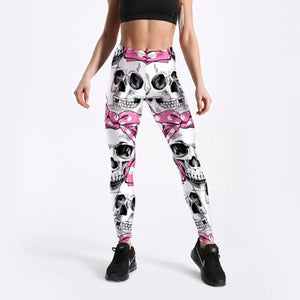 BeautyBossy 2020 Leggings Fitness Skeleton Bows