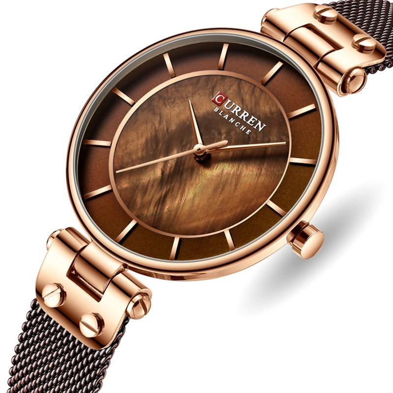BeautyBossy 2020 Curren Luxury Watches Brown