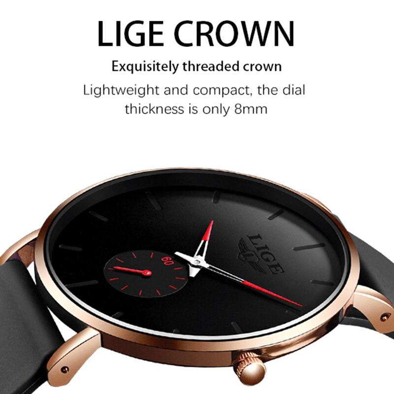 BeautyBossy 2020 LIGE Luxury Ultra-thin Business Watches