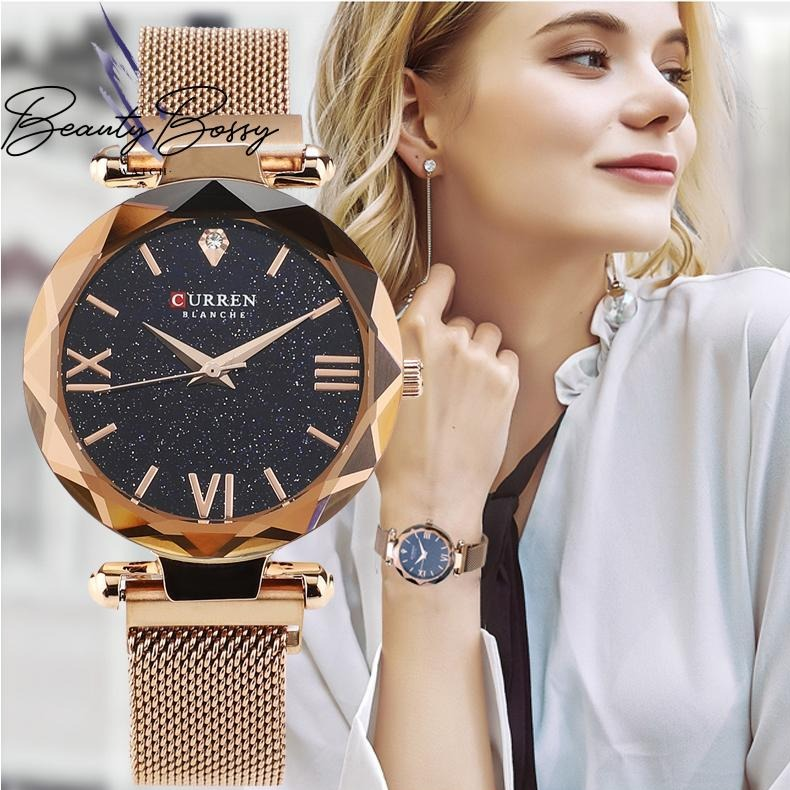 BeautyBossy 2020 Curren Luxury Watches Space Gold