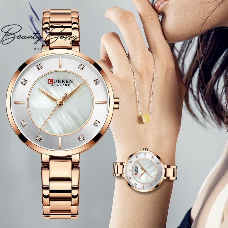 BeautyBossy 2020 Curren Luxury Watches Rose&Gold Marble