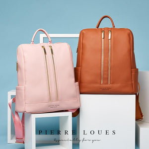 BeautyBossy Leather Luxury Backpack Pink Shades