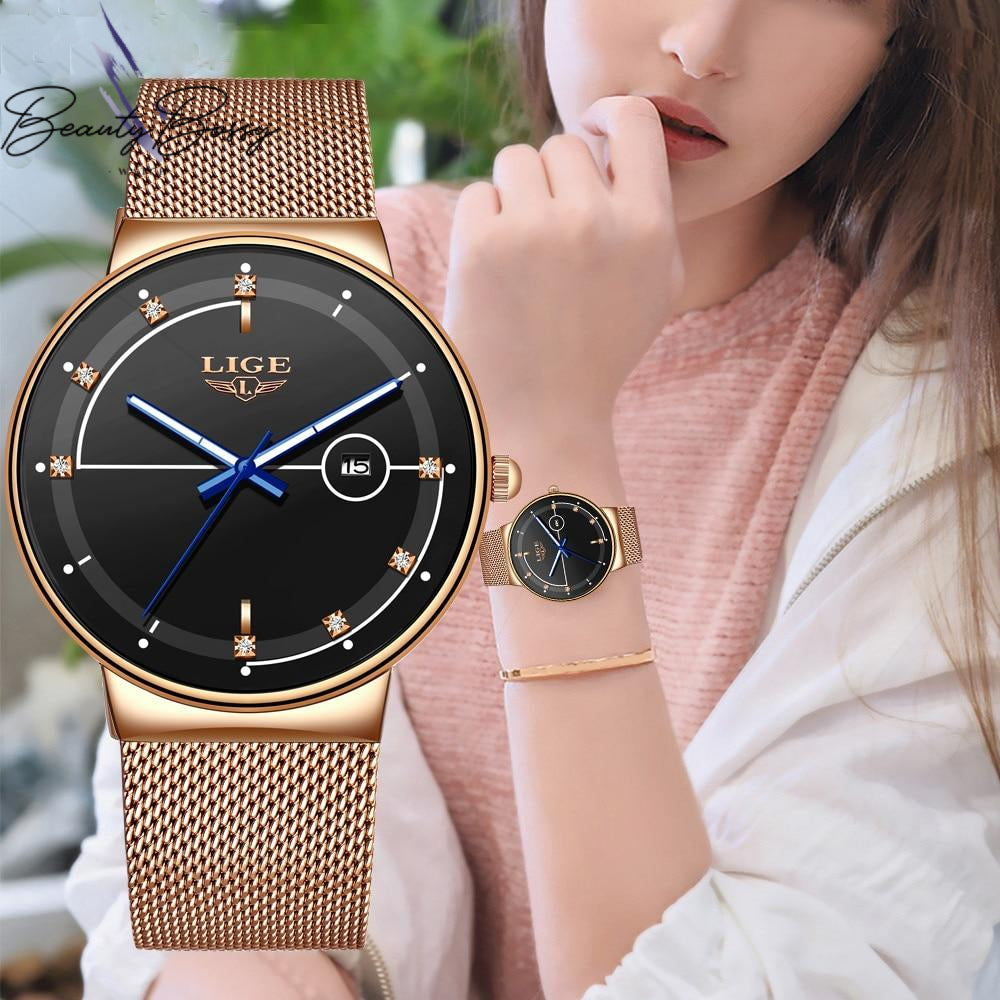 BeautyBossy 2020 LIGE Luxury Watches Gold Line