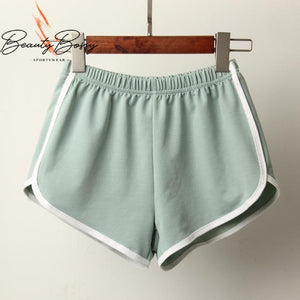 BeautyBossy 2020 Sports Shorts New Candy Colour Green
