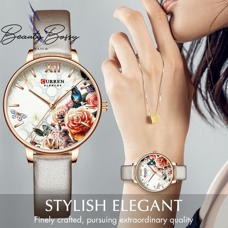 BeautyBossy 2020 Curren Luxury Watches Floral
