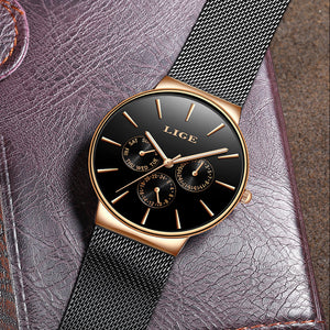 BeautyBossy 2020 LIGE Luxury Watches Black&Gold Time