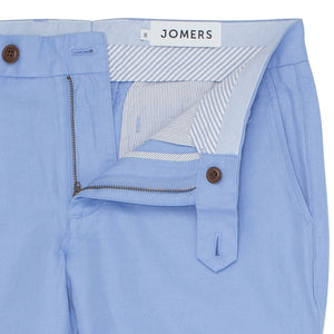 Wolcott (Slim) - Light Blue Irish Linen Cotton Chinos