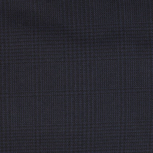 Eldert - Dark Navy Plaid Worsted Wool