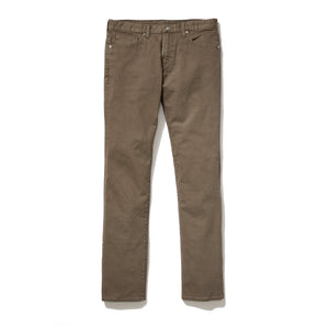 Avery (Slim) - Dark Camel Japanese Five Pocket Bull Denim