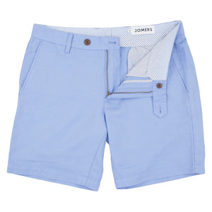 Prescott - Light Blue Irish Linen Cotton Shorts