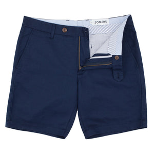 Dean St - Navy Irish Linen Cotton Shorts