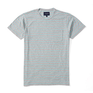 Washed Tee - Heather Gray Stripe