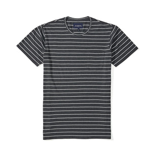 Washed Tee - Charcoal Stripe