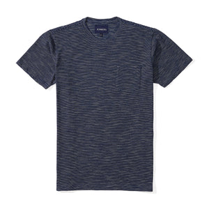 Washed Tee - Navy Pencil Stripe