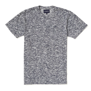 Washed Tee - Woven Heather Blue Tee