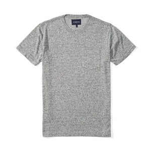 Washed Tee - Woven Heather Gray Tee