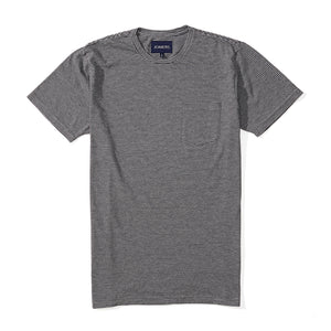 Washed Tee - Gray Charcoal Stripe
