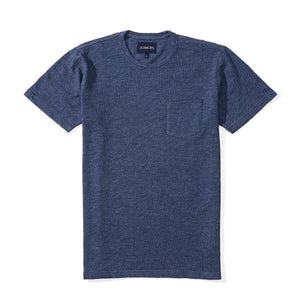 Washed Tee - Heavyweight Marine Blue Slub
