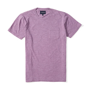 Washed Tee - Heather Purple Slub