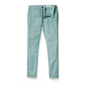 Baltic (Slim) - Teal Japanese Linen Canvas Chinos