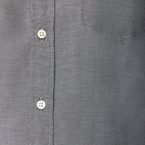 Washed Button Down Shirt - Japanese Gray Chambray