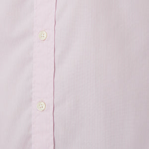 Washed Button Down Shirt - Pink Pencil Stripe