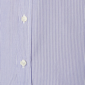 Washed Button Down Shirt - Purple Harrison Stripe