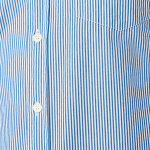Washed Button Down Shirt - Blue Harrison Stripe