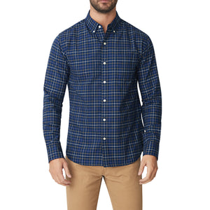 Washed Button Down Shirt - Meridian Oxford Check