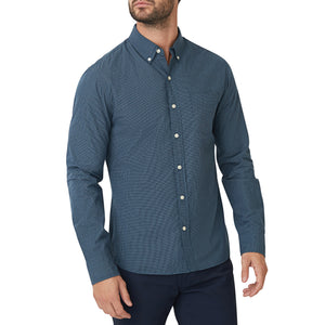 Washed Button Down Shirt - Belden Microcheck