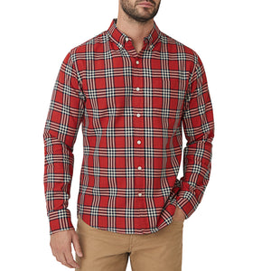 Washed Button Down Shirt - Williams Plaid