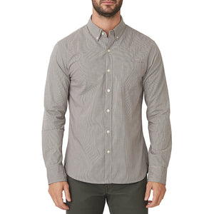 Washed Button Down Shirt - Halsted Microcheck
