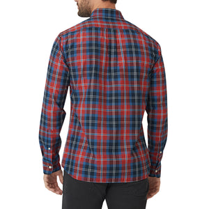 Washed Button Down Shirt - Navy Hill Plaid