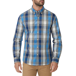 Washed Button Down Shirt - Hillpar Plaid