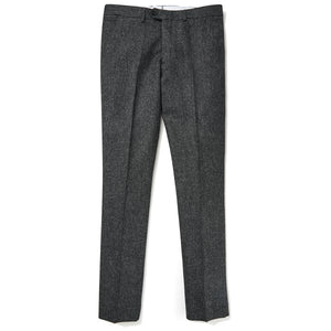 Abraham Moon English Wool Pants - Gray Donegal