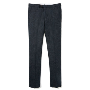 Abraham Moon English Wool Pants - Navy Donegal