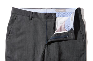 Avon - Charcoal Italian Stretch Marzotto Sharkskin Trousers