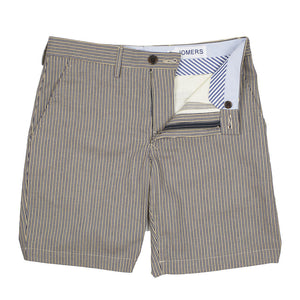 Doyle - Japanese Beige Ticketing Stripe Shorts