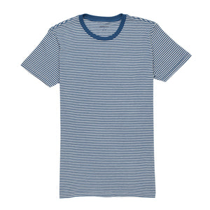 Linden - Captain Blue Bright White Stripe Tee