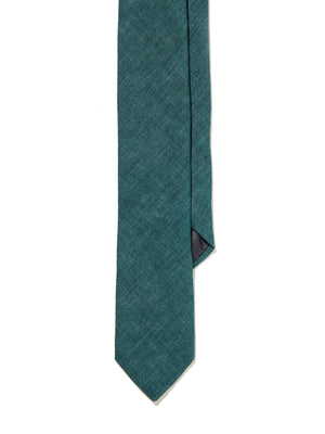 Silk Tie - Hunter Green Tussah