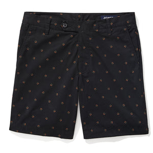 Saratoga - Black Geometric Print Shorts