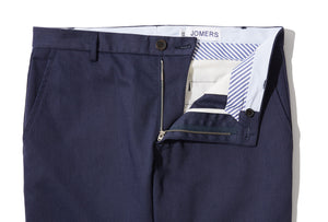 Jefferson (Slim) - Navy Reverse Sateen Chino