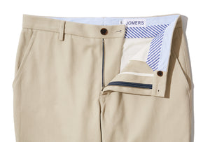 Olsen (Slim) - Beige Japanese Cotton Drill Chino