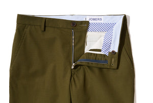 Quentins (Slim) - Olive Ripstop Chino