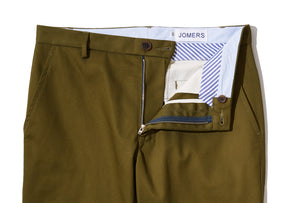 Patton (Slim) - Moss Japanese Military Twill Chino
