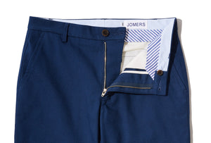 Elmont (Slim) - Dark Blue Canvas Chino