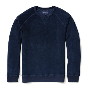 Merin - Navy Reverse Loopback French Terry Sweatshirt
