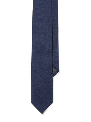 Wool Tie - Heather Blue Flannel