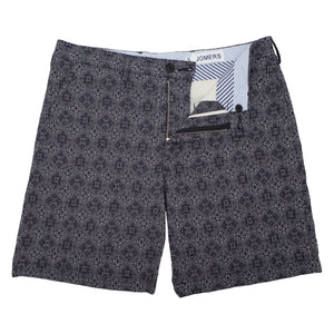 Copeces - Embroidered Geo Jacquard Shorts