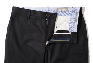 Granger (Slim) - Black Serge Twill Chino